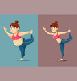 body transformation with exercise and healthy vector image