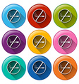 Buttons with no smoking sign vector image vector image