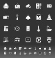 Cafe and restaurant icons on gray background vector image