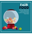 candys sphere fair food snack carnival icon vector image vector image