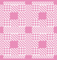 check pink fashion seamless pattern vector image vector image