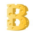cheese letter B vector image vector image