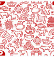 chinese horoscope seamless pattern vector image vector image