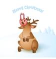 Christmas reindeer vector image vector image