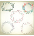 collection of vintage romantic floral wreathes vector image
