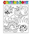 coloring book bugs theme image 2 vector image