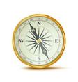 compass retro style shiny metal case vector image