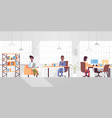 corporate staff employees working in creative co vector image vector image