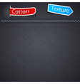 Cotton texture with paper label vector image vector image