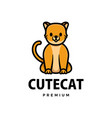cute cat cartoon logo icon vector image