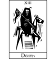 Death Tarot Card vector image vector image