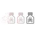 dispersed pixel halftone toxic vial icon vector image vector image