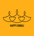 diwali lamp abstract line design background vector image