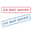 do not enter textile stamps vector image vector image