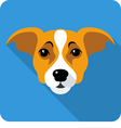 dog Jack Russell Terrier icon flat design vector image vector image