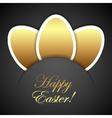 Easter golden eggs vector image