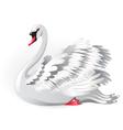 elegant white swan vector image