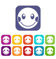 embarrassed emoticons set vector image vector image