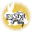 golden easter rabbit vector image vector image