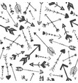 hand drawn arrows seamless pattern doodle vector image vector image
