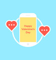 happy valentine day like messaging vector image vector image