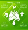 healthy food puzzle concept vector image vector image