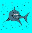 icon mascot shark handdraw image vector image