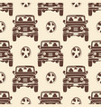 Jeeps seamless pattern design - vintage seamless