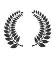laurel wreath icon triumph and trophy symbol vector image vector image