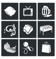 Leisure Icons Set vector image
