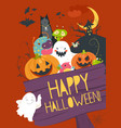 monster friends guising trick or treat vector image vector image