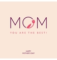 Mothers Day or Birthday greeting card vector image vector image