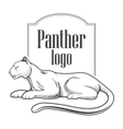 Panther logo engraving style emblem vector image vector image