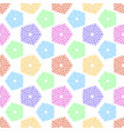 pattern with small symbols of pentagonal star from vector image vector image