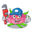 plumber peony flower grow in mascot stems vector image