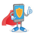 protected smartphone vector image