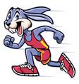 rabbit mascot running vector image vector image