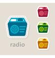 radio receiver icon vector image vector image