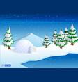 realistic igloo dome or igloo ice house cartoon vector image