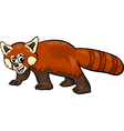 red panda animal cartoon vector image vector image