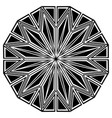 round art deco ornament vector image vector image
