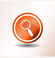 search engine button in flat design vector image