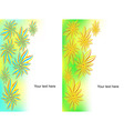 set of banners from flowers and wavy lines vector image