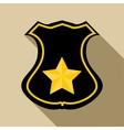 Sheriff badge icon flat style vector image vector image