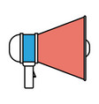 silhouette color sections of megaphone icon vector image