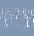 silhouettes of trees on subtle background vector image vector image
