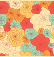 simple primitive seamless floral pattern of vector image vector image