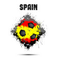 soccer ball in the color of spain vector image