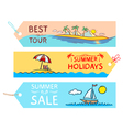 summer labels vector image vector image