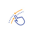 swipe up down line icon move finger sign vector image
